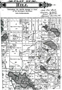 1903 MI Ogemaw Co, Hill Twp, Plat Map