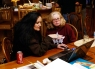5/13/13 Polly Goodwin & I discussing genealogy (Photo taken by Jim Goodwin)