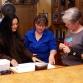 5/13/13 @ Hewitt Home - Rona Sullivan (Barber Descendant) & Mary Hewitt discussing Chief Sodney (Photo taken by Jim Goodwin)