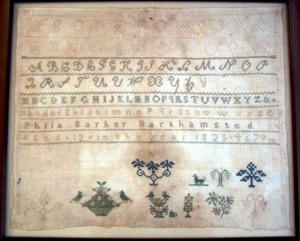 1825 Phila Barber Sampler - Barkhamsted
