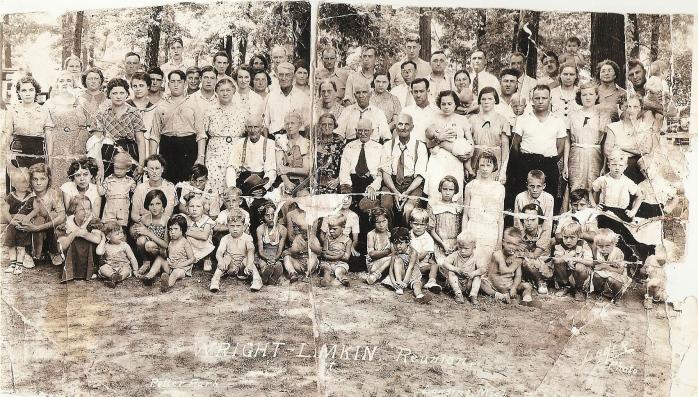07/12/1936 Wright - Lamkin Reunion at Potter Park in Lansing Michigan