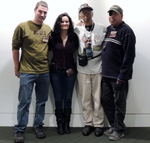 10/19/13 L2R: Chief Hawk Storm, Tall Oak (Everett Weeden) & Keith Brown at The Mashantucket Pequot Museum & Research Center for Conference - photo taken by Veronica Hawkins