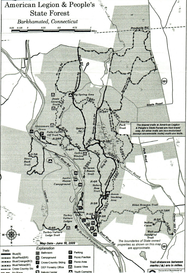 Map of People's State Forest