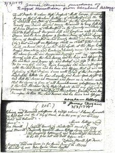 1779 March 3  Abraham Kellogg to James Chughom purchase of Ragged Mountian