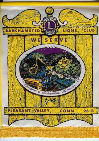 1975 Banner - Barkhamsted Lighthouse - Lions Club