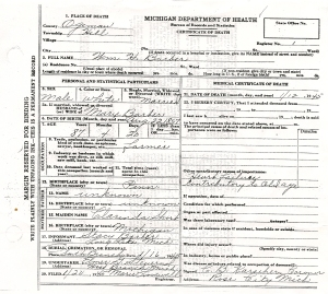 William Barber Death Certificate
