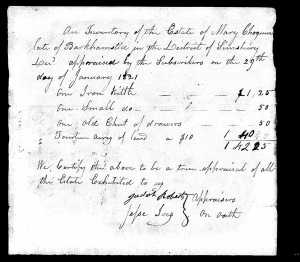 Connecticut, Wills and Probate Records, 1609-1999 for Mary Chogum - pg 4