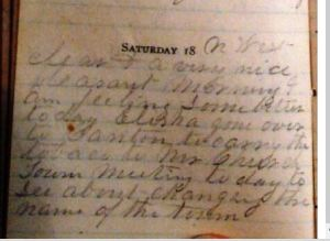 Barkhamsted Name Change - Slade Diary April 18, 1874