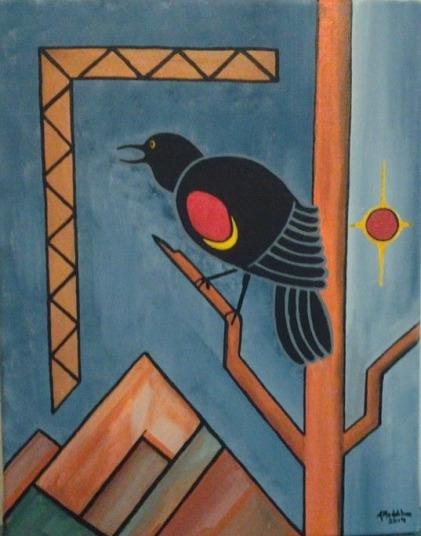 Red Wing Black Bird by Allan Madhabee 2014