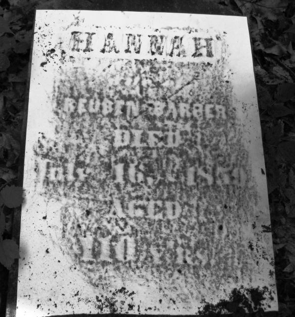 Hannah Barber Tombstone