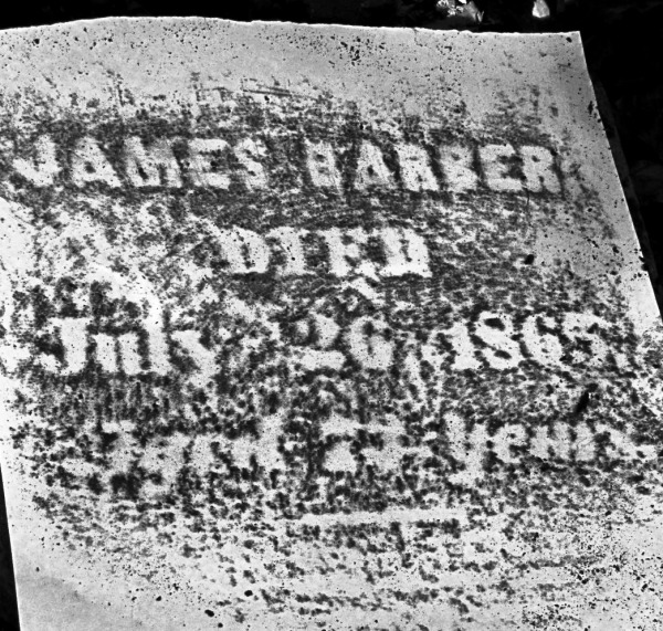 James Barber Tombstone