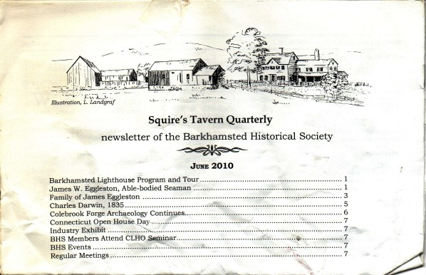 6/10 - Squire's Tavern Quarterly Newsletter - By Barkhamsted Historical Society