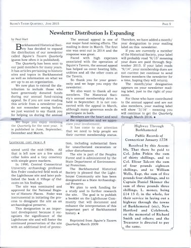 June 2015 - Pg 5 Squires Tavern Quarterly - BHS