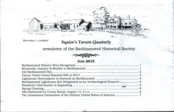 June 2015 - Squires Tavern Quarterly - BHS