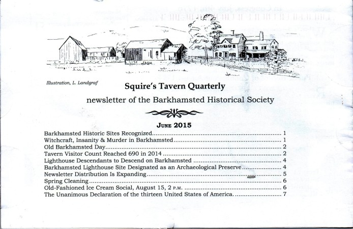 June 2015 - Squires Tavern Quarterly - BHS