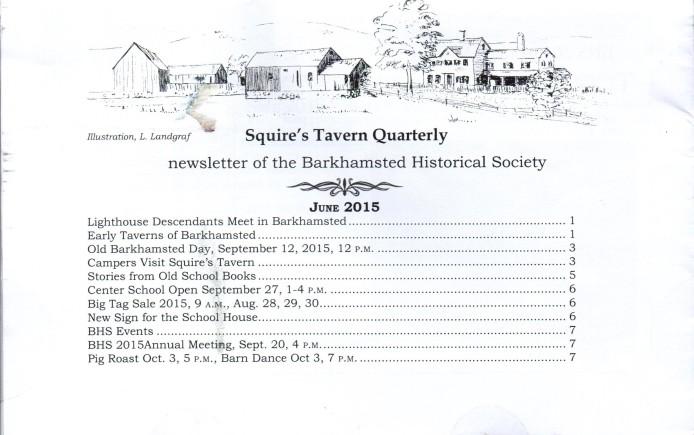 Sept 2015 - Squires Tavern Quarterly - BHS