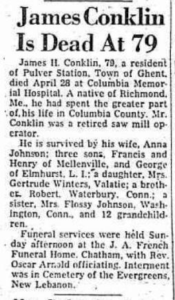 James Conklin Obit