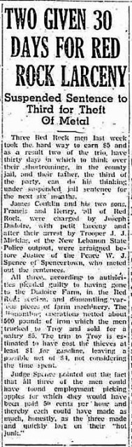 Oct-19-1939 Chatham Courier - James Conklin and Sons Arrest